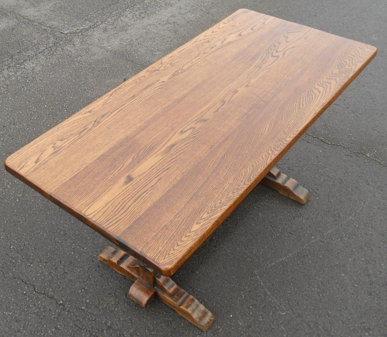 Quality Oak Refectory Dining Table : quality oak refectory dining table 5 4604 p from www.harrisonantiquefurniture.co.uk size 1490 x 1299 jpeg 360kB